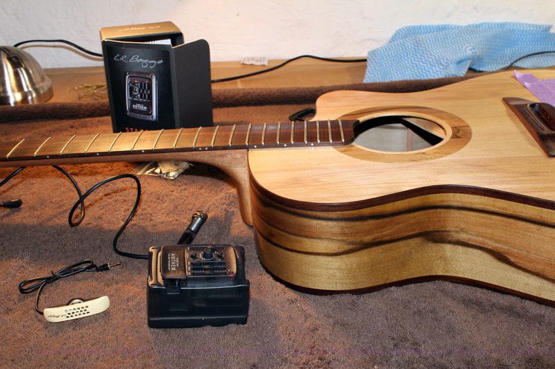 The Brutal Act of Installing the Pickup/Preamp: Guitar Making Blog